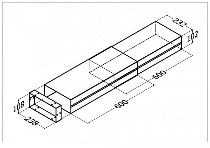 DL-1E Duct Length Extendable 1200mm