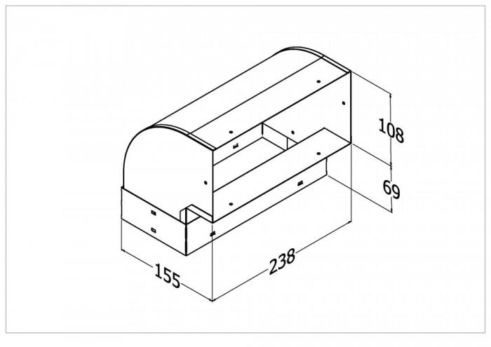 HB-1 Horizontal Bend 90°